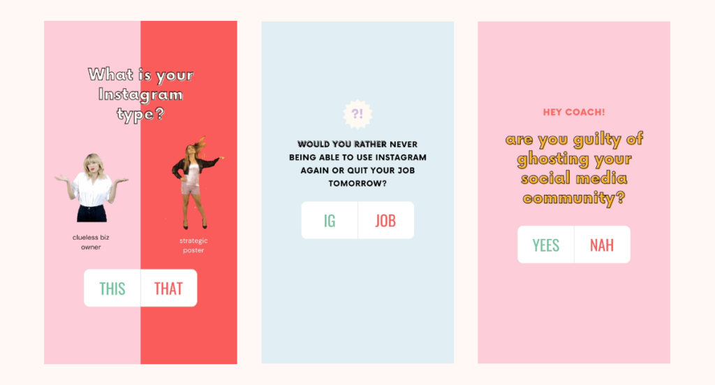 Amazing ideas to use the poll sticker in your Instagram story