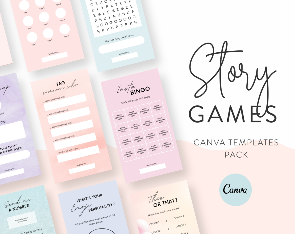 Download ready-to-use Instagram Story Game Templates for Canva