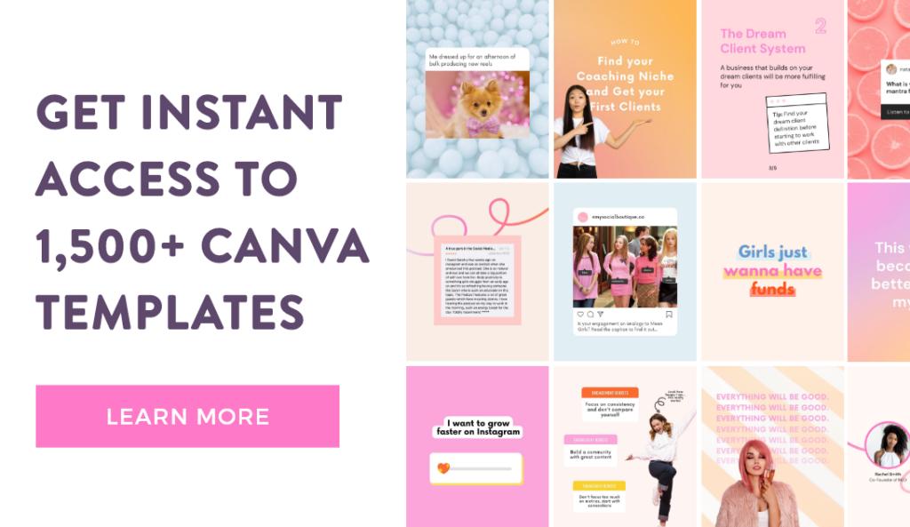 Canva Template Membership for Social Media Templates for Instagram, Facebook, Pinterest, TikTok and more